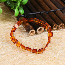 JIUDUO Unique super burst 100% Natural amber beeswax multi-treasure hand string bracelet lady genuine noble grade special BT03