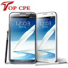 Original samsung Galaxy Note II 2 N7100 EU version Refurbished N7105 8.0MP kamera GPS Android 4.1 telefon WIFI Freies verschiffen