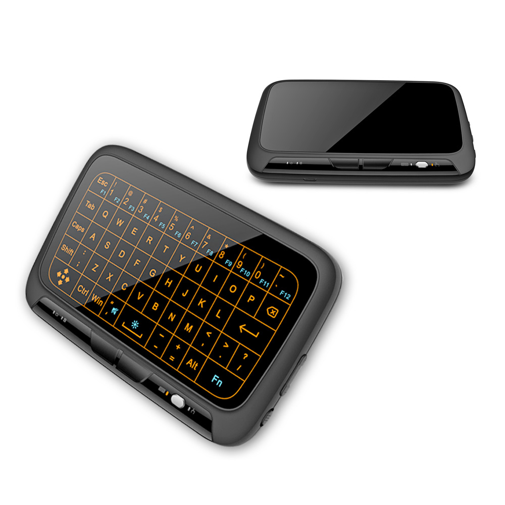 H18+ Wireless Air Mouse Mini Keyboard Full 2.4GHz QWERTY Keyboard Touchpad with Backlight Function For Smart TV PS3 TV Box PC цена и фото