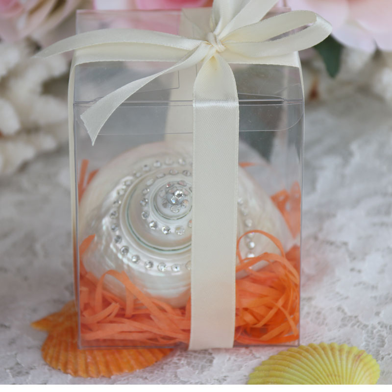 Free Shipping(1pcsbox)Big Silver Mouth Turban Gift Box Natural Shell & Conch Beach Wedding Decor Coastal Home Decoration