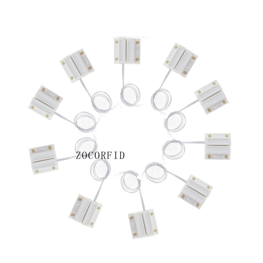 Free shipping 50pcs MC 38 Door Window Contacts Security Magnetic Reed Spring Switch Alarm Normal Closed