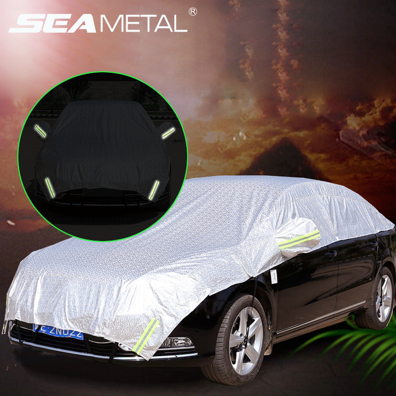 Car Covers Waterproof SUV Auto Sun Proof Shade Reflective Strip Outdoor Dust Rain Protection Universal Summer On Car Accessories(China)