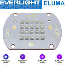 60W 20 Chip Multi Chip Intergrated High Power Purple UV LED Emitter Lamp Light Everlight 365nm 380nm 395nm 420nm on Copper PCB