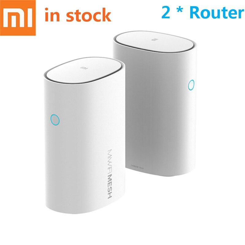 Xiao mi mi Router WiFi Malha 2.4 + 5GHz 4 Núcleo CPU 256MB Gigabit Router Wi-fi De Alta Velocidade poder 4 Amplificadores De Sinal para Casa Inteligente
