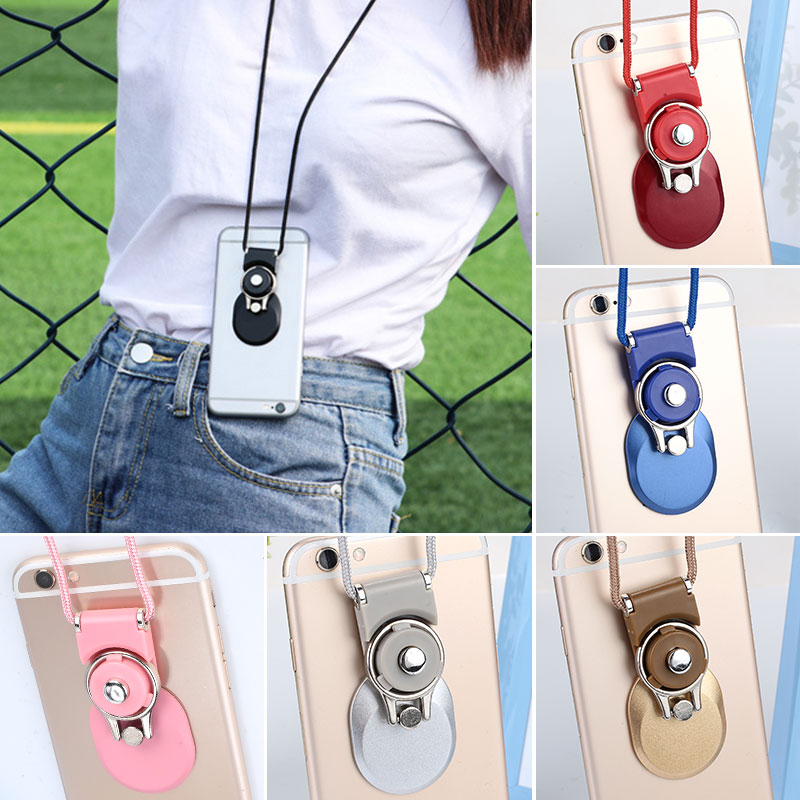 2 in 1 Multi-function Mobile Phone Neck Strap Lanyard Detachable Phone Neck Strap Phone Stent for iPhone Samsung Huawei