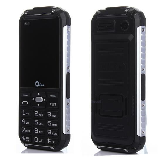 Original Oeina XP6000 Dual Torch Rugged Outdoor Mobile Phone Metal Side <font><b>Power</b></font> Bank GSM Senior old man cell Phone Dual