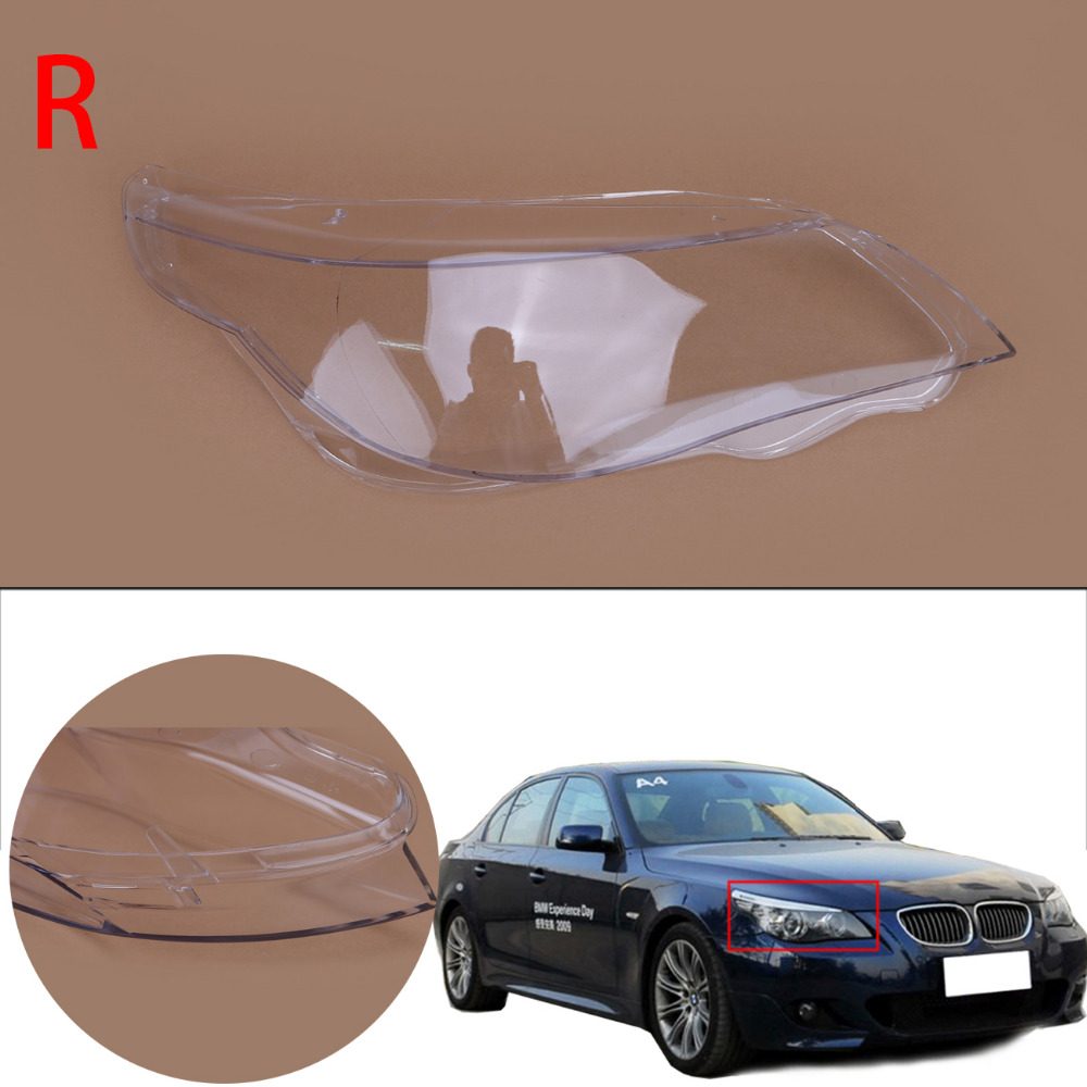 1PC Front Headlight Lens Cover HeadLamp Shell Housing For BMW 5 series E60 M5 E61 525i 530i 528i 535i 540i 550i 545i N001-R/L for bmw 5 series e60 m5 e61 car front headlamp housing clear lens shell cover for bmw 525i 530i 528i 535i 540i 550i 545i n001
