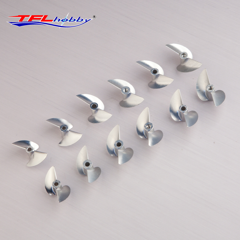 Image 2 - TFL Genuine Parts! 2 Blade G Series  CNC 1.9 Thread pitch  Hole Dia  3.18mm/4.0mm Aluminium Propeller for RC boatParts & Accessories   -