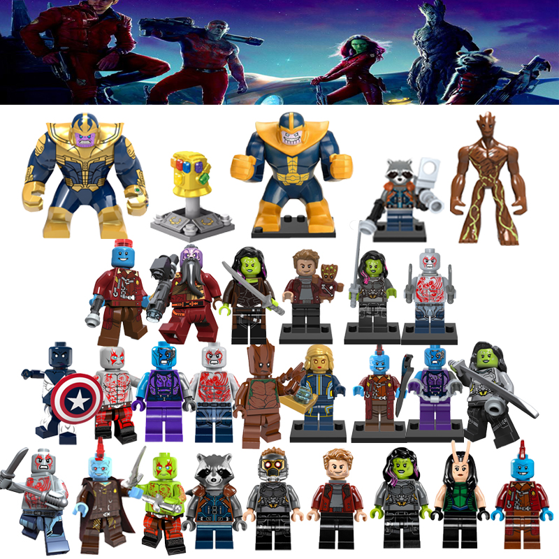 Super Heroes Star Lord Guardians Of The Galaxy Avengers: Infinity War Thanos Gamora Yondu Rocket Racoon Building Blocks Toys