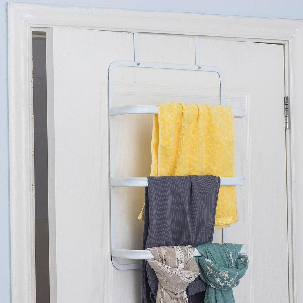 Porte en fer créative porte arrière porte serviettes salle de bain stockage rack tenture murale étagère à serviettes wx10201734 - 2