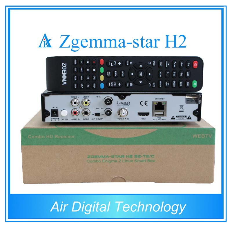 ФОТО 3pcs Linux Zgemma-star H2 iptv satellite receiver  combo tuner with DVB-S2 and DVB-T2