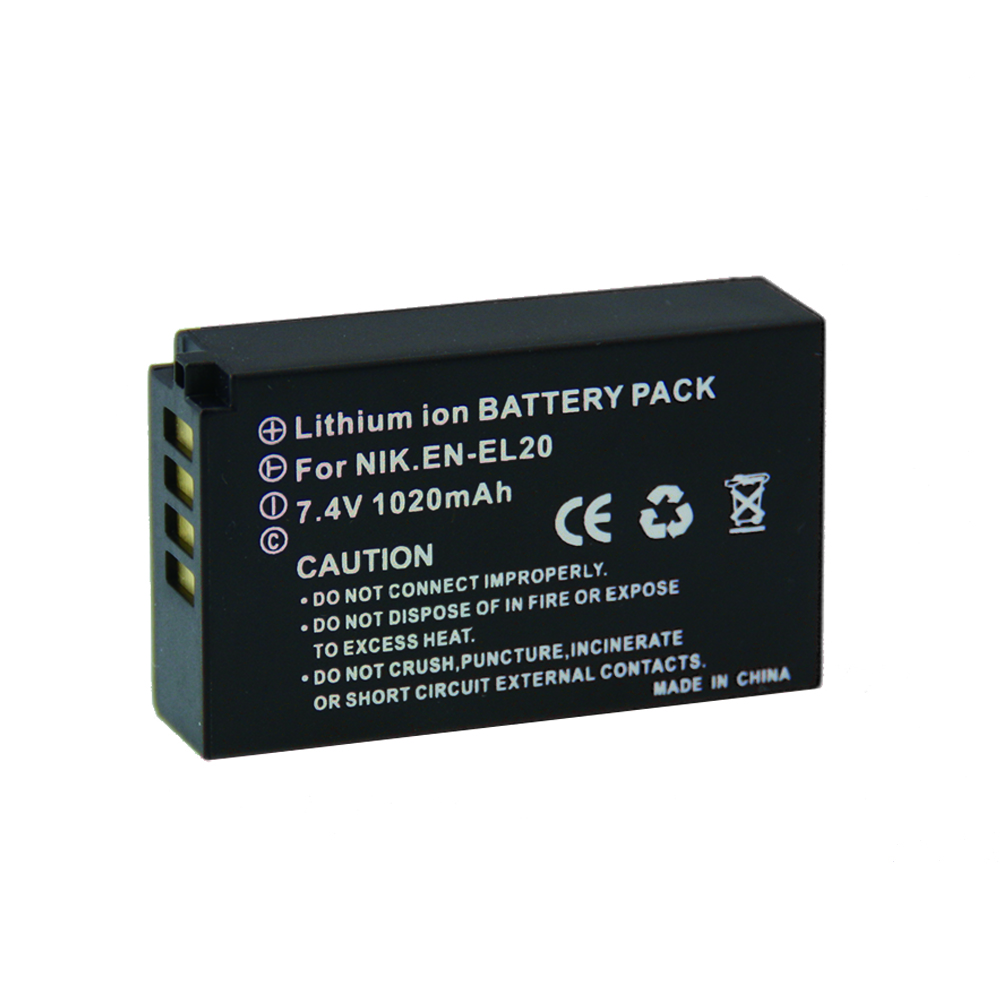 Digital Boy 7.2V 1020mAh EN-EL20 Rechargeble Digital Camera battery EN EL20 ENEL20 For Nikon J1 dslr 2 J3 S1 Camera