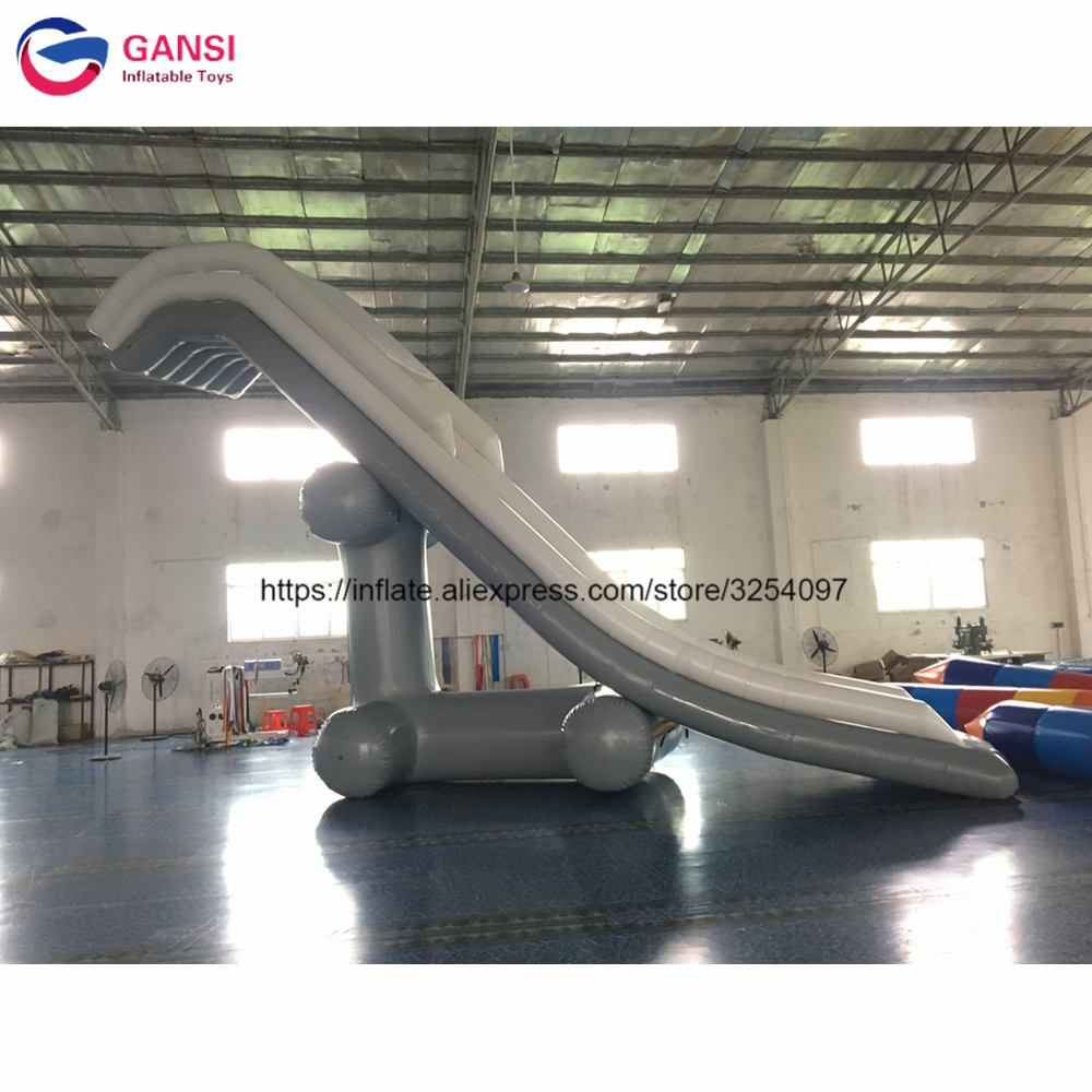 Hot sale inflatable water slide for yacht 0.9mm high quality 4mH*2mW inflatable yacht slide for sale with free air pump цена