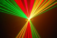 Single head RGY disco laser beam light show projector
