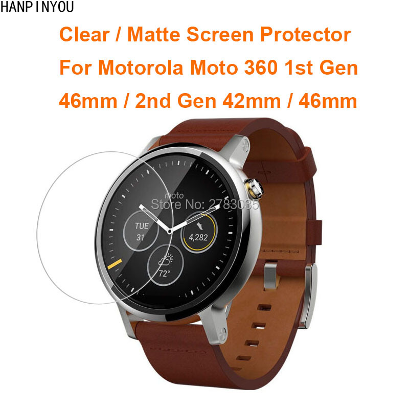 For Motorola Moto 360 1st Gen 2nd Gen 42mm/46mm Clear Glossy/Anti-Glare Matte Screen Protector Film Guard (Not Tempered Glass)