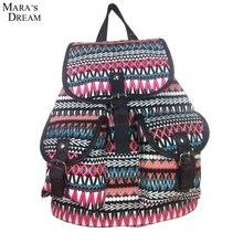 Mara traum new 2017 leinwand frauen tasche rucksack schultasche für jugendliche damen mädchen back pack schultasche rucksack mochila