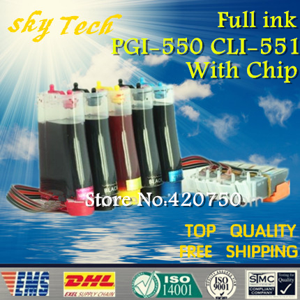 Full ink CISS suit for PGI550 CLI551 suit for Canon IP7250 MG5450 MX925 mx725 , with permanent chip ,full ink 5 color ciss system for canon pgi 550xl cli 551xl pgi550 cli551 550 for canon mg5450 ip7250 7250 printer with arc chip