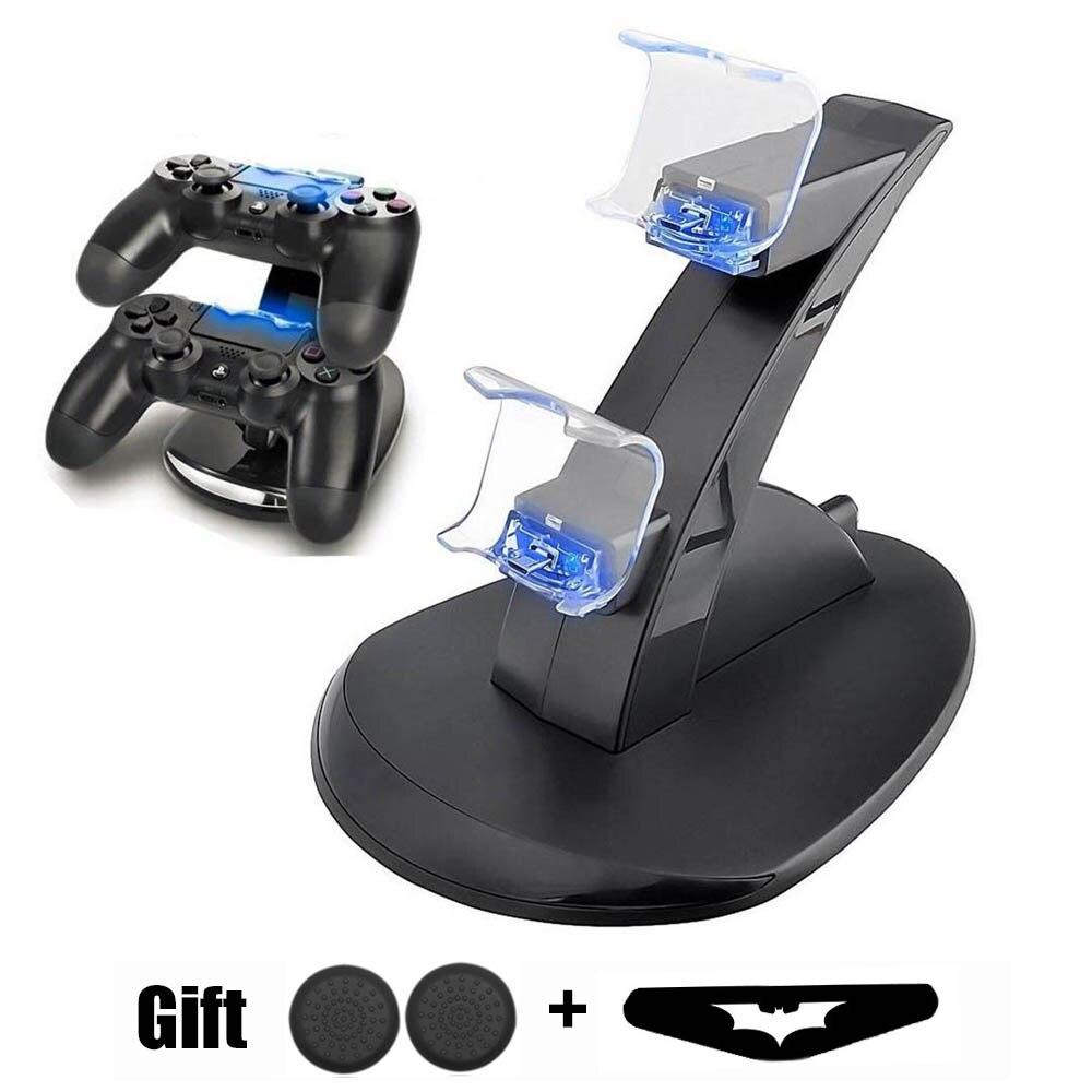 PS4 Game Controller Carregador Duplo Porta De Carregamento LED Indicador De Carregamento Estação/Dock/Stand para PS4/PS4 Fino /PS4 Pro Gamepad