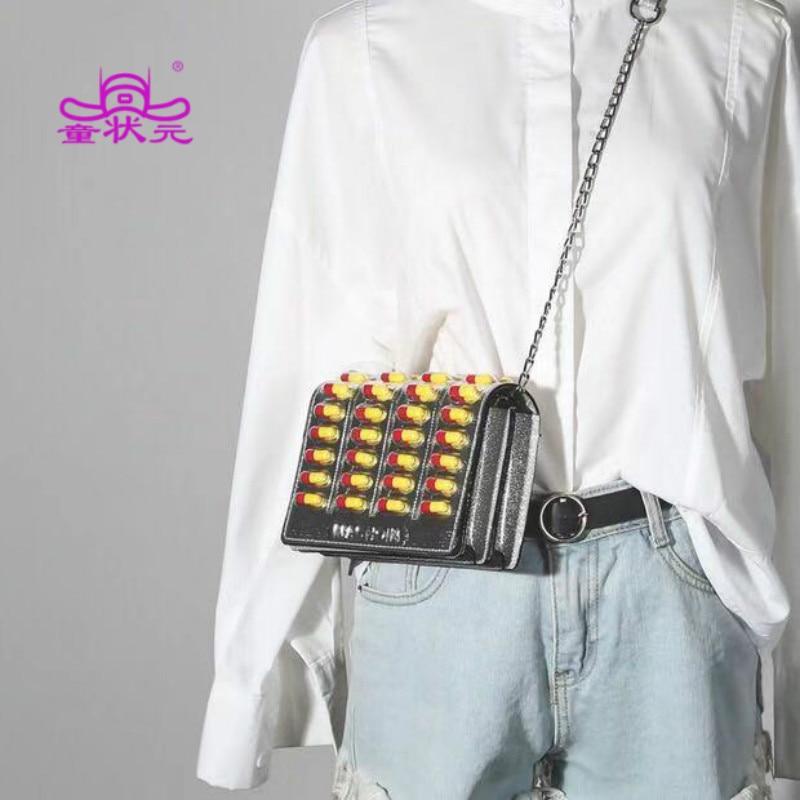 2019 New Trend Women Handbag High Quality Woolen Square package Fashion Shoulder bag Woman Messenger Pill