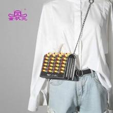 2019 новая трендовая женская сумка высокого качества шерстяная квадратпосылка модная сумка через плечо женская сумка-мессенджер Pill моделирующая сумка через плечо