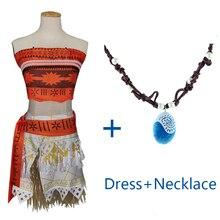 Kostým pro děti Princezna Moana s náhrdelníkem