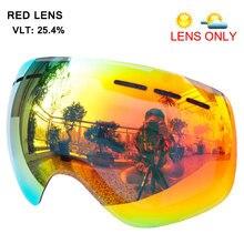 3b63c5c6c3a Lens for magnetic ski goggles snow-4100 anti-fog UV400 large spherical  snowboarding eyewear