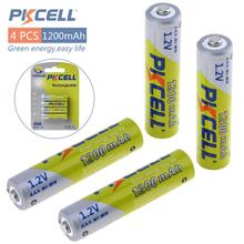 ФОТО 4pcs*pkcell battery aaa pre-charged nimh 1.2v 1200mah ni-mh 3a rechargeable batteries up to 1000mah capacity cycle 1200times