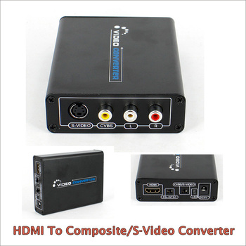 New 1080P HDMI to AV Composite S-video & CVBS Converter Video Audio Adapter for TV/PC/Blue-Ray DVD 1080P фото