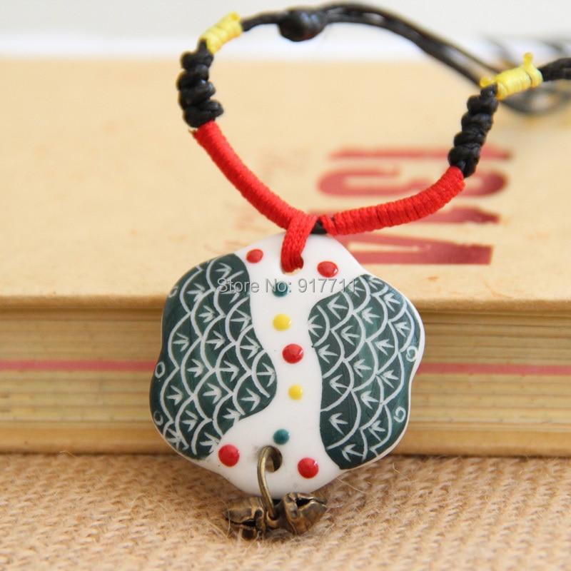 Ceramic Necklace Pendants, Original Handmade Ethnic Style Sweater Chain New Fashion Vintage Jewelry Accessories Wholesale