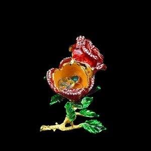 Image 5 - QIFU الحرف اليدوية Romanticred روز شكل مجوهرات وصيفه الشرف هدية