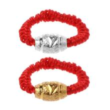Handmade Kabbalah Red String Lucky Bead Protection Braided Rings Fashion Jewelry(China)