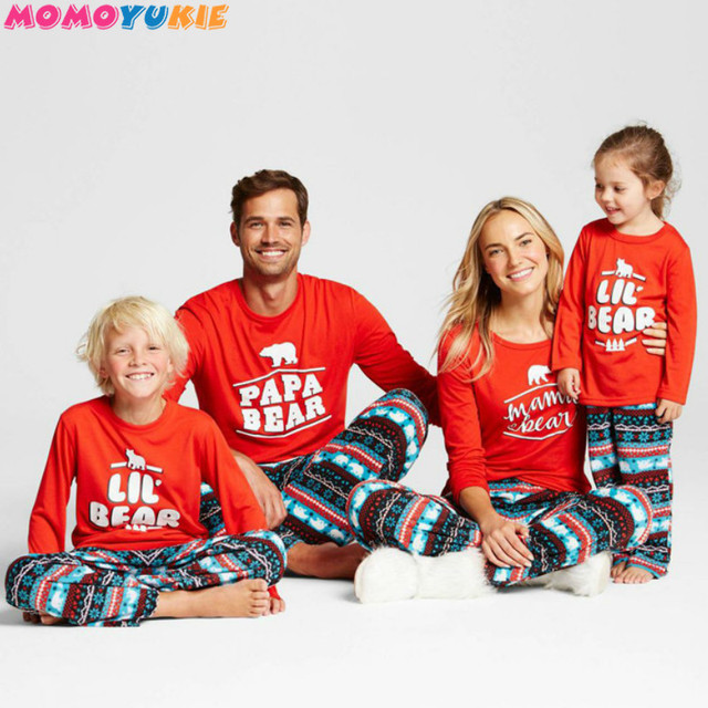74ce15e6c7 Hot Family Matching Christmas Family Pajamas Set Snowflake Tree Printed  Adult Baby Kids Long Sleeve Nightwear Pyjamas Costume