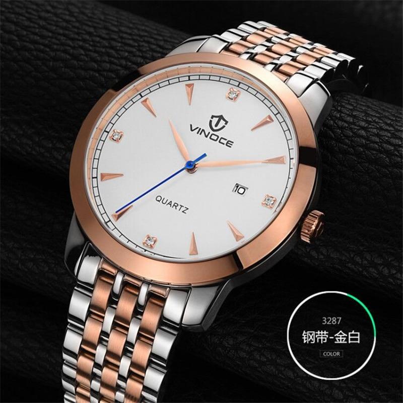 купить Mens luxury gold wristwatches male brand watches quartz man clocks waterproof stainless steel fashion Business calendar relogio недорого