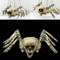 Halloween spider party Decoration Ghost House Spider Skull skeleton hanging ghost mask Party Bar Decorations