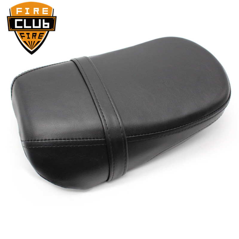 Motorcycle Accessories Black Leather Passenger Seat Pad Rear Seat Set For Kawasaki Vulcan 650 VN650