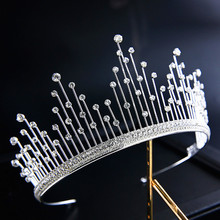 Crystal Tiaras and Crowns Wedding Hair Accessories Bridal Princess Crown Queen Wedding Tiara for Brides Hair Ornaments все цены