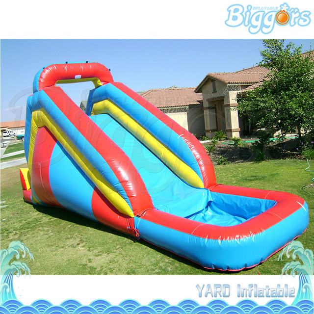 Sea Shipping 6x3x3m Much Fun Inflatable Small Swimming Pool Water Slide For Children