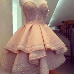 Sweetheart lovely short beading crystal satin cheap charming homecoming dress for girls.jpg 250x250