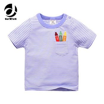 Tops Boys Girls Tee Striped T Shirt Children Tshirt
