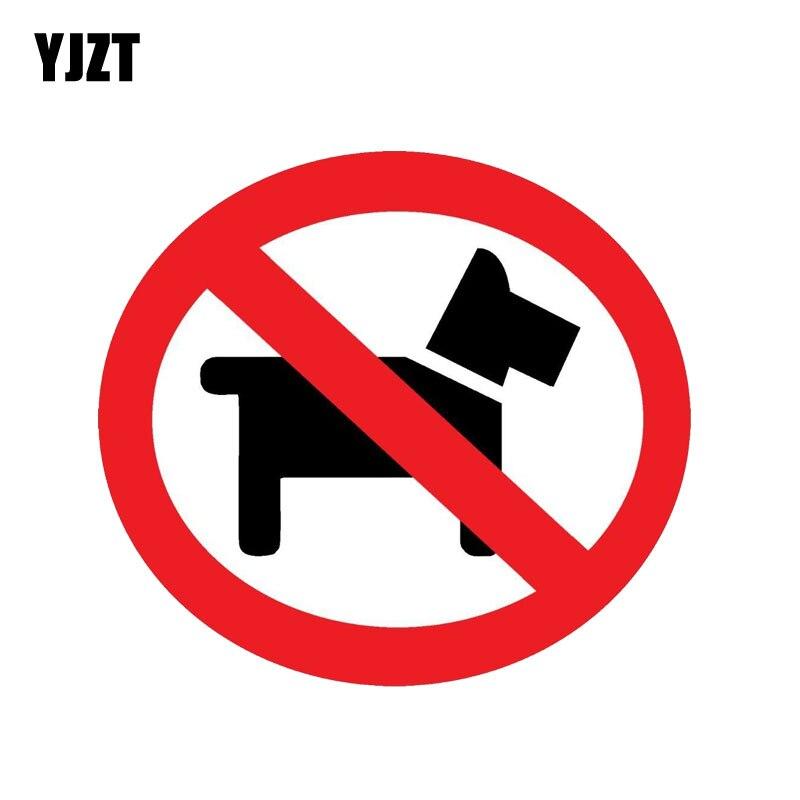 YJZT 13.3CM*13.3CM Warning No Dogs Decal Animal PVC Car Sticker 12-1255