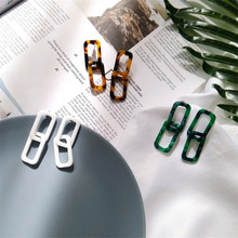 Geometric Tide Section Earrings Fashion Retro Women Personality Wild Korean Simple Temperament Female Earrings Pendant