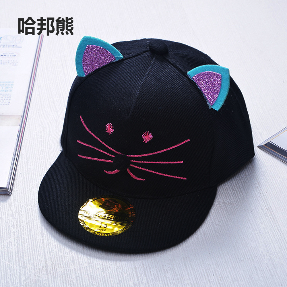 5c2af8915 2017 Lovely cat ear Hello Kitty Embroidery Kids Baseball Caps Gorras  Casquette Children Hip Hop snapback hats,Wholesale-in Baseball Caps from  Apparel ...