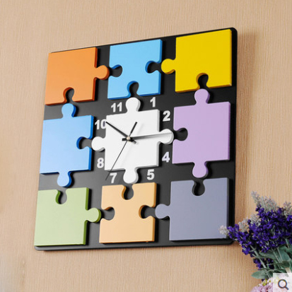 Kingart Child Digital Wooden Cartoon Wall Clock Decorative Kids Room  Deratative Hanging Watch Wall Clock