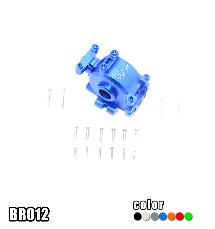 1PC ROCK REY LOSI 1/10 Truck Front Gearbox BR012 Aluminum Alloy Gear Box for 1:10 RC Cars Modification Upgrade Parts aluminum gear box mount transmission shell only 180013 hsp pangolin upgrade parts 94180 for 1 10 rock crawler hop ups