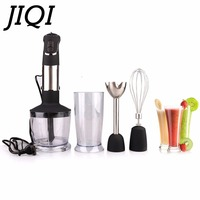 JIQI Electric Handheld Food Mixers Multifunction Portable Fruits Blender Juicer Stir Mixing Whip Eggs Beater Processor