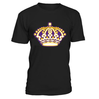 COLDINDOOR High quality Los Angeles ice Hockey Fans Men's T Shirts With Printing kings Logo Cotton