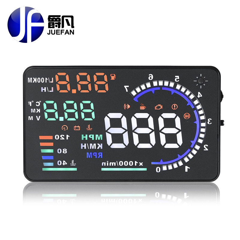 HOT A8 HUD Auto diagnostic scanner car Head Up Display Car Detector Speed Projector on Windshield HUD Display Car with OBD2 maxscan gs500 2 8 lcd obdii eobd car diagnostic auto scanner