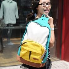 Stacy sac hot vente femmes toile sac à dos étudiant style preppy casual sac à dos voyage sac d'école bloc de couleur sac de voyage