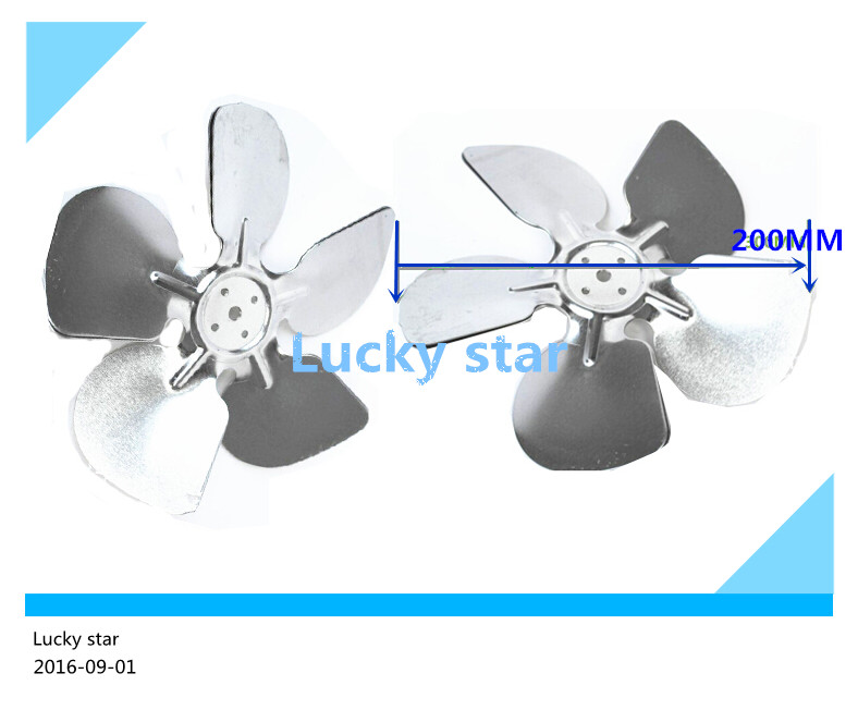 2pcs/lot 100% new for High-quality for Refrigerator cooling motor fan aluminum air blade 20CM = 200MM for refrigerator freezer zwf 02 2 12v dc refrigerator fan motor
