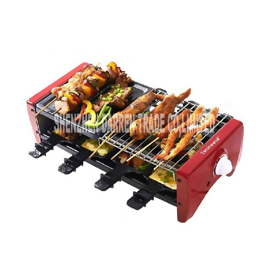 Electric oven TW-108 Portable Barbecue Grill Double-deck Electric Smokeless Grill For Family/Party/Outdoors Picnic Grill Machine цена